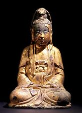 Gilt Lacquered Bronze Buddha - Ming Dynasty