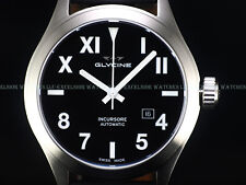 Glycine Incursore 44mm Swiss ETA 2824 Automatic Black Dial Sapphire Watch 3922