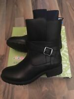 RRP £59.99 TRESPASS GIRLS BLACK LEATHER WINTER BOOTS BRAND NEW SIZE 1