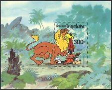 Togolaise/Togo 1980 Disney/Lion/Goofy/Cat/Wildlife/Animation/Cartoons m/s b6502