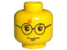 LEGO - Minifig, Head Glasses w/ Lightning Bolt on Forehead (Harry Potter)