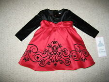 """NEW """"SWIRLING HOLIDAY"""" Christmas Dress Girls 18m Fall Winter Holiday Clothes"""