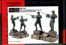 Hobby Fan 1/35 HF-712 WWII LVT-4 US Marines Gunner (Pacific War) - 2 Figures