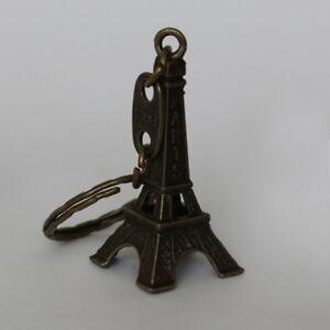 Eiffel Tower Keyring - Bronze Paris France French