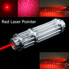 Tactical Red Laser Pointer Pen 650nm 18650 Powerful Beam Pen Light & Star Cap