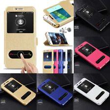 For LG G5 G6 Q6 Q8 K3 K8 K10 Magnetic Slim Window Leather Wallet Flip Case Cover