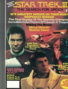 Star Trek III The Search for Spock Magazine William Shatner Leonard Nimoy