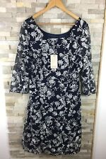 b542c32d922 Monsoon Ladies Size 18 Floral Embroidered Long Sleeve Dress