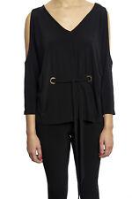 Joseph Ribkoff Ladies Black Cold Shoulder V-Neck Tunic US 8 UK10 181105 NEW