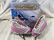 New Star Glide Double Runner Girls Size 1 Pink Silver Dual Blade New Open Box