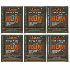 Alcotec Rum Turbo Distillers Yeast (Pack of 6)