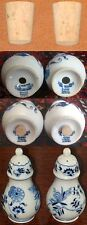 2 New Blue Danube Corks Stoppers Plugs for Banner Marked Salt & Pepper Shakers