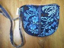 Vera Bradley Slim Saddle Bag Purse Java Floral