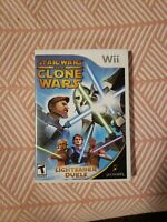Nintendo Wii 2008 Star Wars: The Clone Wars: Lightsaber Duels CLEAN TESTED