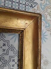 CADRE DORE 19ème XIXème  large moulure feuille d'or  EMPIRE