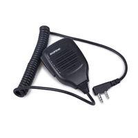 Speaker Hamd microphone 2 Pin PTT For BaoFeng UV-5R 8W BF-888S Walkie Talkie MIC