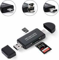 USB 3 IN 1 Type C/ USB /Micro SD TF memory Card Reader Adapter For MacBook Phone