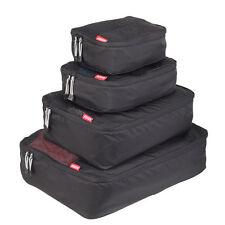 NEW Zoomlite Smart Packing Cube 4 pc Set (Black) - Travel Luggage Organiser