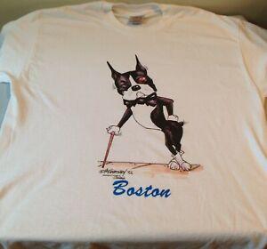 Boston Terrier T-shirt, design by McCartney, size XL