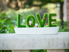 Cute Artificial LOVE Display Plant Pot Bonzai for Wedding Event Home Office