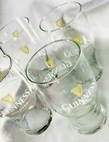 4 Guinness Pint Beer 20 oz Pub Glasses w/ Harp Brewed in Dublin Set Vintage NOS