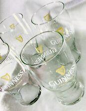 Four Guinness Pint Beer 20 oz Pub Glasses w/ Harp Brewed in Dublin Set Stout
