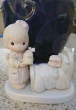 Precious Moments Make Me A Blessing Figurine w/Box Girl Teddy Bear Cute 100102