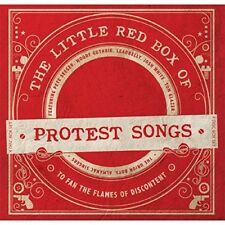 THE LITTLE RED BOX OF PROTEST SONGS - WOODY GUTHRIE, LEADBELLY - 3 CD+DVD NEU