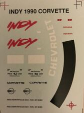 DECAL FOR 1/24 - 1/25 SCALE 1990 CHEVROLET CORVETTE INDY 500 PACE CAR