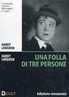 Dvd **UNA FOLLA DI TRE PERSONE** Edizione Restaurata di Harry Langdon nuovo 1927