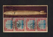 1929 USA LZ 127 Graf Zeppelin postcard cover Around the World Cdr Rosendahl Sign