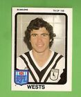 1981 WESTERN SUBURBS MAGPIES SCANLENS RUGBY LEAGUE CARD #78 WARREN BOLAND
