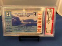 1972 NLCS Game 4 Baseball Ticket Stub Roberto Clemente's Last Home - PSA 4