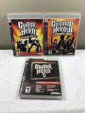PS3 GUITAR HERO WORLD TOUR & Guitar Hero 5 & Guitar HERO III