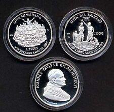 Polierte Platte Münzen aus dem Vatikan vor Euro-Einführung