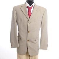 HUGO BOSS Sakko Jacket Angelico Gr.26 beige uni Einreiher 3-Knopf -S869