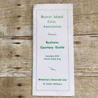 Vintage Brochure Beaver Island Michigan MI Business Advertising 1963 History Map