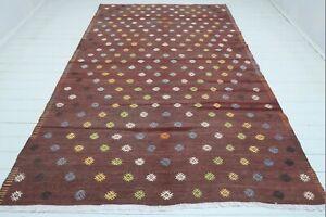 """Turkish Sardes Kilim Rug, Living Area Rug, Kelim, Diningroom Rug, Carpet 76""""X119"""