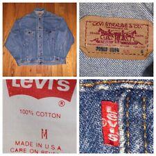 Vtg Levi's 70507-0214 Men's Denim Trucker Jean Jacket Size Medium Made In USA
