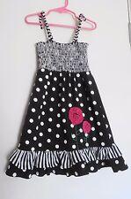 Unbranded Black & White Polka Dot Sundress S