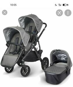 UPPAbaby VISTA Stroller Double Buggy In Pascal (Grey/Carbon)