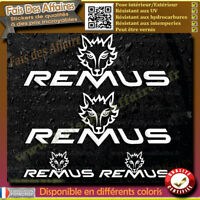 4 Stickers Autocollant Remus sponsor lot planche sticker decal