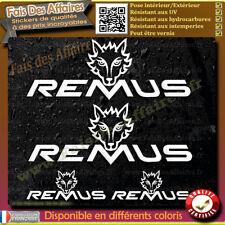 4 Stickers Autocollant Remus sponsor lot planche sticker decal