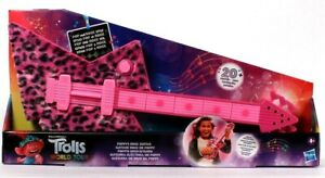 Hasbro DreamWorks Trolls World Tour Poppy's Rock Guitar 20 Plus Sounds Age 4 Up
