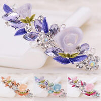 Women Girls Crystal Barrette Rhinestone Flower Hair Clip Clamp Hairpin Headwear