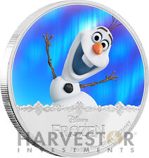 DISNEY FROZEN - OLAF - MAGIC OF THE NORTHERN LIGHTS - 1 OZ. SILVER COIN SERIES