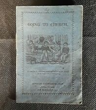 Antique Woodblock Print Chapbook Going To Church