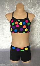 Crop Top and Short Set - Girl Sizes - dance, gymnastics, cheer, active wear