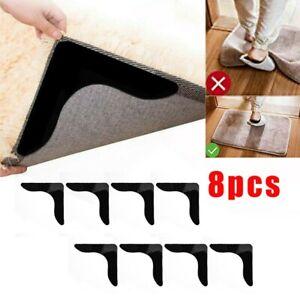 8x Reusable Rug Carpet Mat Pad Grippers Anti-Slip Sticker Rubber Grip Skid Tape