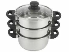 3 Tier Steamer Stainless Steel Cooker Food Cooking Kitchen Steamers Pot Home NEW